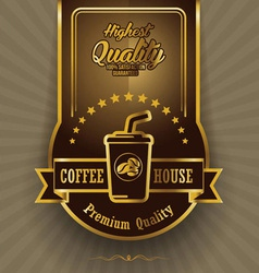 Retro Vintage Coffee Background with Label vector image vector image