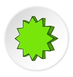 Scalloped star icon cartoon style vector