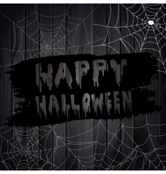 Scary Spider Webs vector image