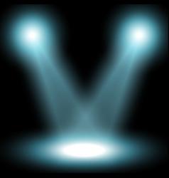 Spotlight light effect aqua color vector