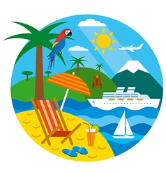 Tropical travel vector