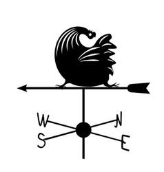 Weathervane - black running rooster2 vector