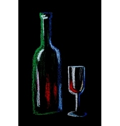 Wine on black vector