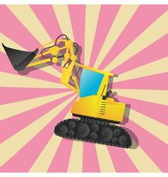 The fantastic excavator vector image