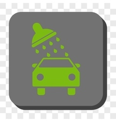 Car Wash Rounded Square Button vector image