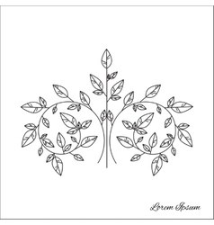 Tree brunch outline vector