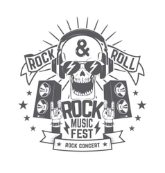 Rock festival flyer vector image
