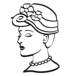 Woman wearing a bonnet vector image