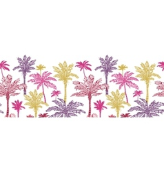 Palm trees horizontal seamless pattern background vector