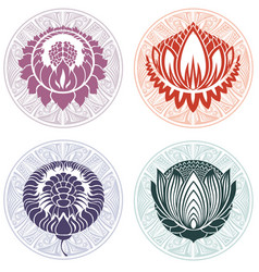 lotus logo templates vector image