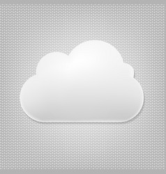 Cloud icon with grey background vector