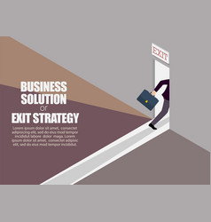 Business solution or exit strategy infographic vector