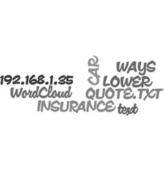 Ways to lower your car insurance quote text word vector