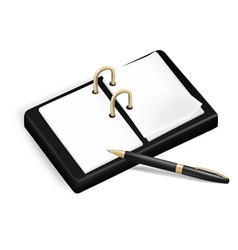 A pencil and a notebook vector image