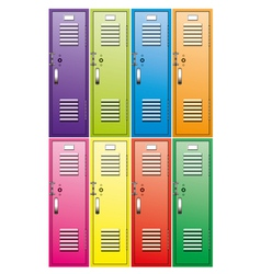 School lockers vector