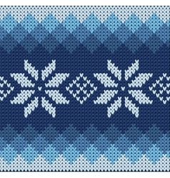 Knitted jacquard pattern vector