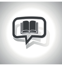 Curved book message icon vector