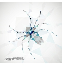 Abstract spider  futuristic art vector