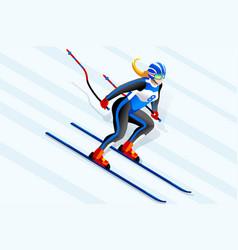 Alpine skiing clipart vector