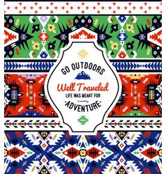 American tribal seamless pattern vector