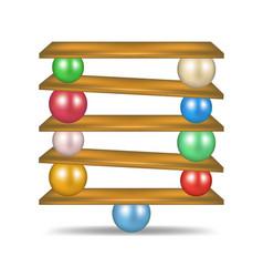 Balanced balls in various colours vector