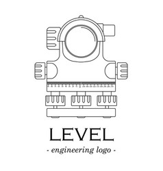 black-and-white logo of a level of lines vector image