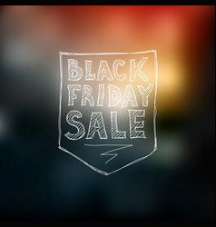 black friday sale freehand drawing vector image