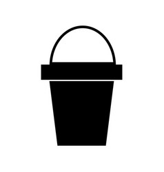 bucket icon black sign on vector image