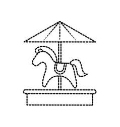 carousel horse toy recreation carnival park vector image vector image