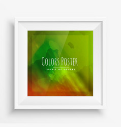 Colorful poster in realistic frame vector