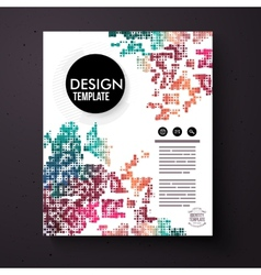 Design Template with a colorful abstract pattern vector image vector image