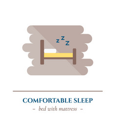 flat sleep icon vector image