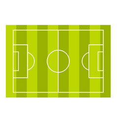Football or soccer field icon isolated vector