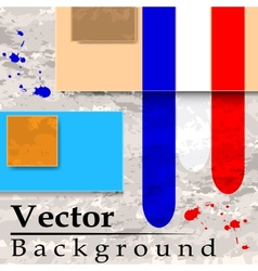 Grunge background with plates vector image vector image