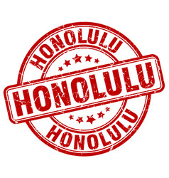 Honolulu stamp vector