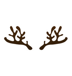 horns of a reindeer on a white background vector image vector image