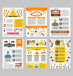 house repair tool banner set construction design vector image