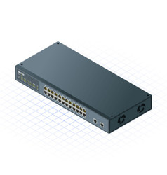 Isometric switch with uplink port vector