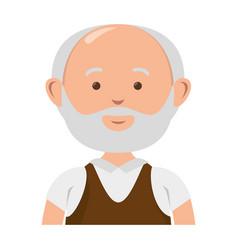 old man avatar character vector image