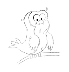 owl sketch vector image vector image