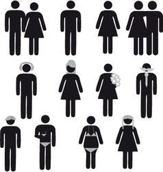 people symbol vector image vector image