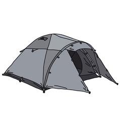 Powder-blue tent vector