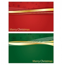 red and green Christmas banners vector image
