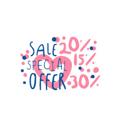 sale special offer 15 20 30 percent off logo vector image