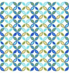 Seamless bright geometric circle pattern vector