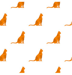 sitting cat pattern seamless vector image vector image