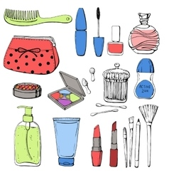 Skin care accessories for skin vector