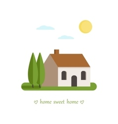 Sweet home card vector