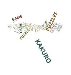 The craze that is the kakuro puzzles text vector