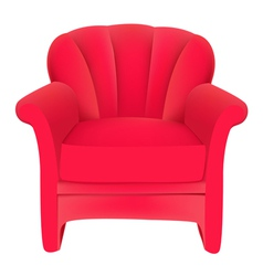 Red velvet chair vector
